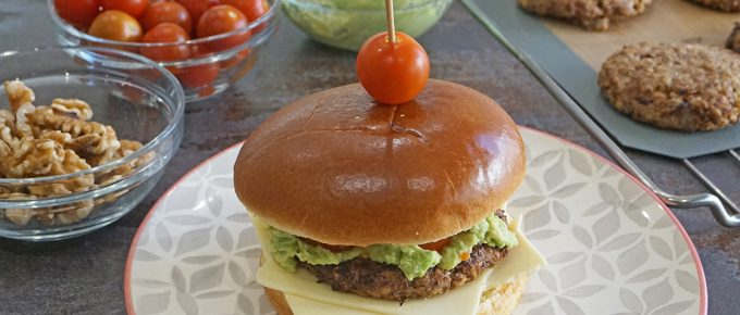 hamburguesas de arroz con nueces